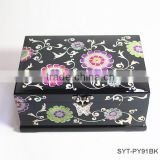 Luxury mother of pearl wooden jewelry boxes with lock