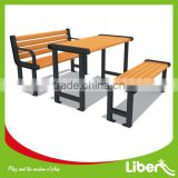 Real wood with cast iron garden bench LE.XX.070