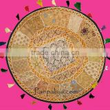 Exotic beaded vintage sari sequinRound Handmade Tapestries