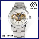 White dial watch blue hands mechanical watch for men china men's mechanical watch made in china