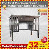 kindle 2014 new professional customized galvanized folding metal and leather chair