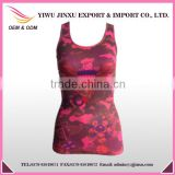 Hot Seller Wholesale OEM Fitness Eagle Picture Printed Gym Women Sports Singlets High Quality Tank Tops