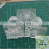 Custom personal logo pre inked rubber making clear soap stamps