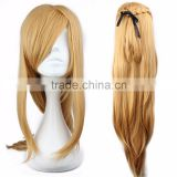 Hot Anime Fashion 90cm Sword Art Online Asuna Yuuki brown cosplay wig Straight Heat Resistant Hair