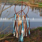 Tribal Large Dream Catcher - Gypsy Fringe White Crocheted Mandala - Aztec Dream Catcher - Bohemian Crochet Dream Catcher