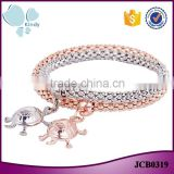 Fashion jewelry wholesale 2 pieces set gold white gold covering turtle bracelet