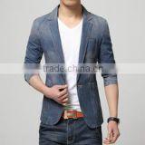 Latest Design Mens Vests 2015 New Fashion Blue Motorcycle Biker Denim Vest
