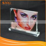 Customized perspex photo frame,DIY acrylic magnetic photo frames,lucite photo frame with fast delivery