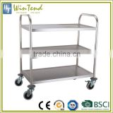 Hotel service trolley, stainless steel room hospital food service trolley