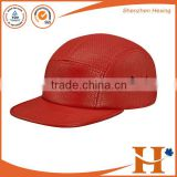 2016 high quality customized 5 panel strapback cap red leather baseball cap with sunglasses                                                                         Quality Choice
