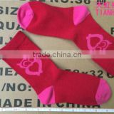 Zhuji China Red Owl Pattern Cotton Children Socks Girls