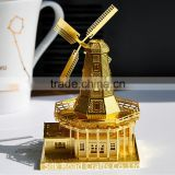 puzzle 3d of building dutch windmill