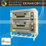 Front Stainless Steel Commercial Bakery Oven 2 Decks 4 Trays Bakery Oven Prices For CE (SY-DV24 SUNRRY)                                                                         Quality Choice                                                     Most Popular
