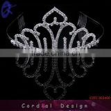 Fashion Jewelry GORGEOUS CLEAR RHINESTONE CRYSTAL TIARA CROWN FOR BRIDAL PAGEANT