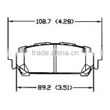 D1004 320 06 220 for Saab subaru rear carbon fiber brake pads