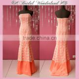 Lace bohemian style mother of the bride dress