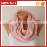 V-437 chunky knit loop scarf button cowl button scarf crochet circle cable pattern neck warmer loop scarf