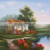 Contact Supplier Chat Now! Abstract oil painting on canvas paint by number village landscape painting