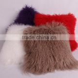 Wholesale Tibetan Mongolian Lamb Fur Pillow / White Sheep Skin Throw Pillow                                                                         Quality Choice
