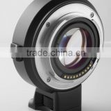 speed booster EF-E lens mount adapter with lens to enlarge one stop aperture AF function