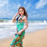 2015 ladies fashion design beach scarves for summer time long tassel beach cover up