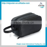 Promotional Waterproof Polyester Material Hand Toiletry Kit Type Travel Comsetic Bag for Men