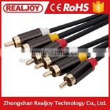 High quality 3RCA to 3RCA AV wires for android tv box coaxial audio and video Cable