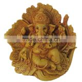 Religious Lord of Success Idol Wooden Carved Ganesh Ganesha Statue Figurine