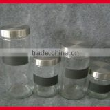 blackboard painting glass mason jars and lids in cylinder shape, 4 pieces set, glass storage jar