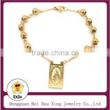 China Supply Stainless Steel Catholic Gift JESUS / Our Lady of Mt Carmel Devotional Cord Scapular Rosary Beads Prayer Bracelet
