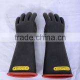Class 1 electrical insulation lineman safety gloves