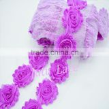 108 SOLID COLORS beautiful rosettes flower- 2.5''chiffon fabric flowers -wedding dresses decorative shabby flowers