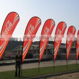 High quality outdoor beach flag pole , cross base banner stand