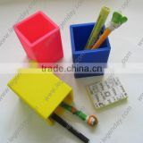 Promotion gift durable colorful pencil box silicone rubber pen holder