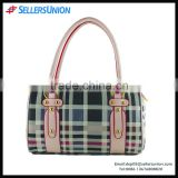 Trendy lady revit latticed design slap-up PVC handbag bag Yiwu export competitive price bag