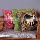 Decorative, Sofa Vintage pillow case,Cotton Canvas Custom handmade cushion Cover Throw Elegant Pillow Case
