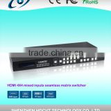 High quality HDMI 4x4 Mixed inputs Seamless Matrix Switcher with IR , RS-232 , picture in picture