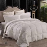 Wholesale white color microfiber quilts for hotel or home