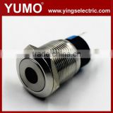 LA19-AJS 19mm 250V Led momentary elevator equipment pushbutton switch Metal push button 12mm 12v waterproof mini push b
