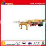 Phillaya semi trailer 2 axle 3 axle 20ton 30ton 40ton skeleton container utility trailer for sale
