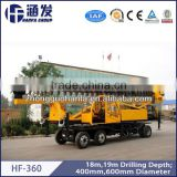 Wheeled type small Energy-saving drilling machine,11m depth pile drilling rig, HF360 piling drilling rig