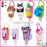 Promotional 3d animal bulk travel size bath and body works hand sanitizer holder