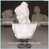 white marble hand carving beatiful young girl bust for decoration