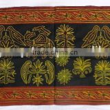 Traditionally Designed Hand Embroidery Work Indian Cotton Wall Hanging Mix Design Tapestry