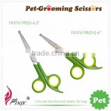 2 Pcs Set Ball (Round) Safety Tip Dog & Pet Grooming Scissors