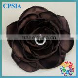 Colours Stock Satin ribbon flowers For Sale Pearl Center Cheap Artificial decorative handmade flowers for dress