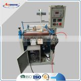 small size hdpe ldpe extruder split rolling film machine
