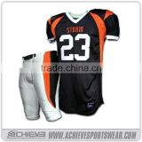 wholesale team american football jerseys custom training soccer shirts sublimated league american football uniforms