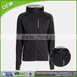 Factory wholesale warm men cotton black hoodie chimney collar sweatshirt side zipper hoody