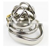 304 Stainless Steel Chastity Device Cage with Barbed Anti-off Ring Male Cock Cage Penis Lock